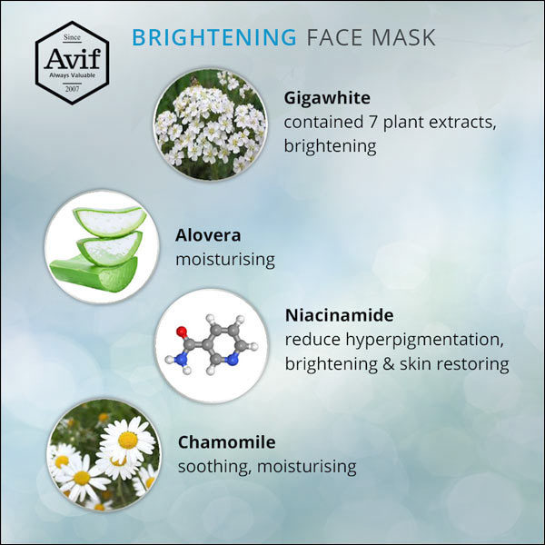avif face whitening mask effect